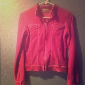 """Juicy Couture Velour """"Motorcycle"""" Jacket"""